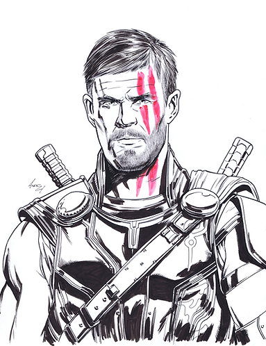 Chris Hemsworth as Thor Original Art
