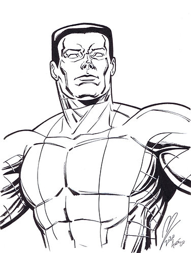 Colossus Original Inked Drawing