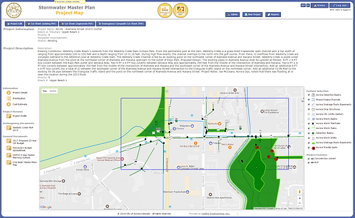 City of Aurora Digital Stormwater Master Plan, Aurora, CO