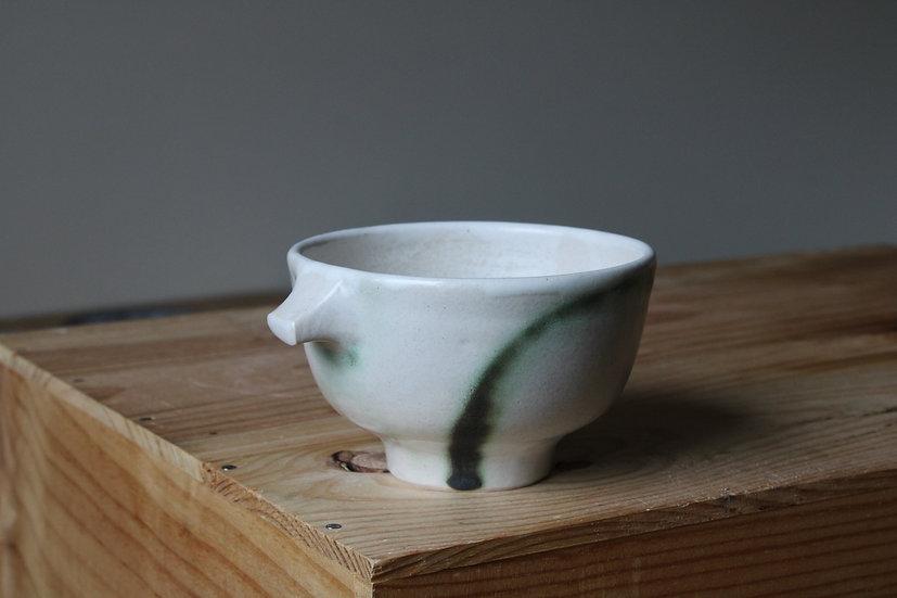 Copper brush tea bowl