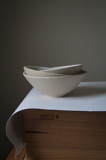 Two tone stoneware bowl - small medium or large