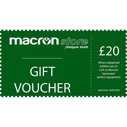 £20 Gift Voucher (Redeem £24)
