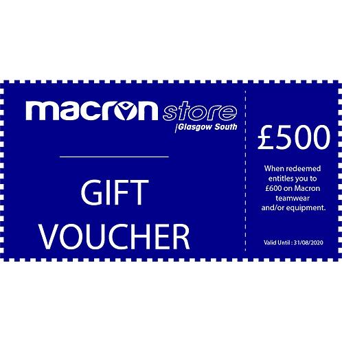 £500 Gift Voucher (Redeem £600)