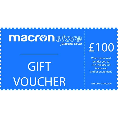 £100 Gift Voucher (Redeem £120)