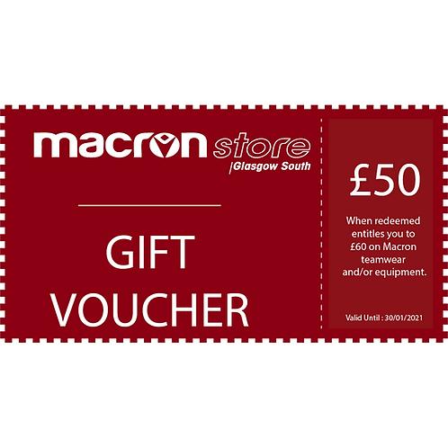 £50 Gift Voucher (Redeem £60)