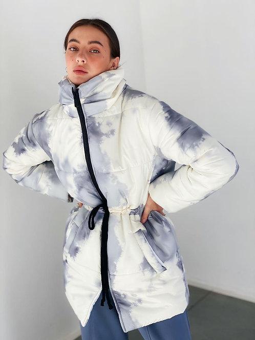 Зимняя куртка облако в серый градиент фото