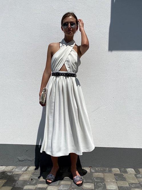 Платье миди с открытой спиной фото