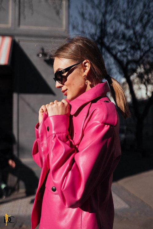Кожаная куртка цвета фуксия фото