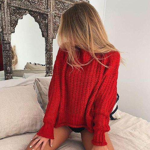 свитер крупной вязки фото