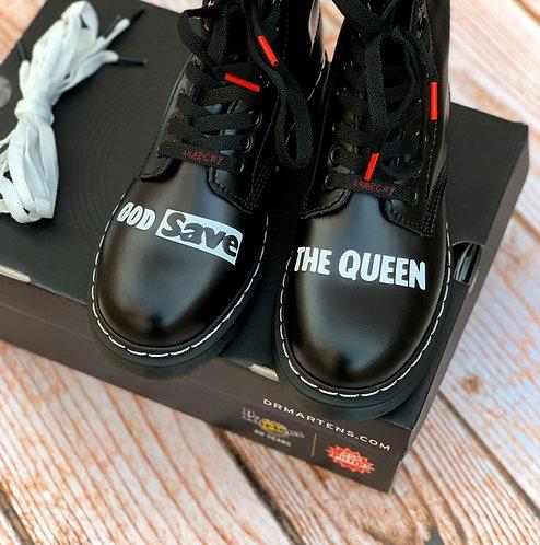 Черные кожаные ботинки Dr. Martens 1460 x Sex Pistols PIR