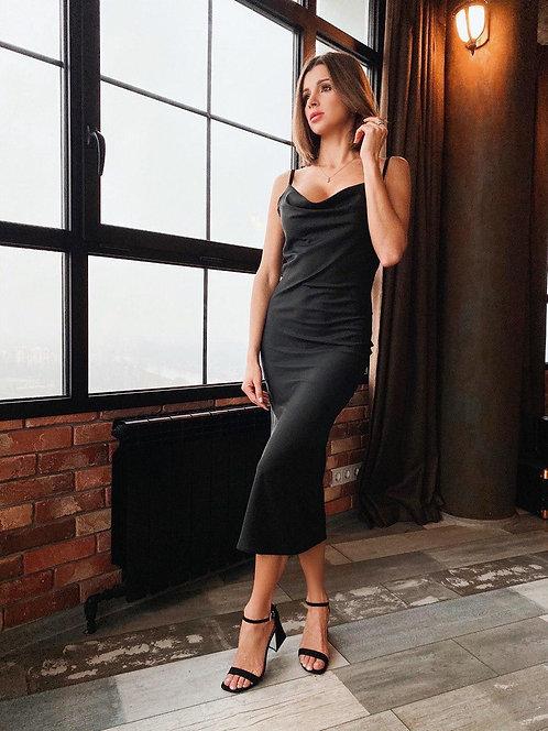 Платье комбинация миди фото