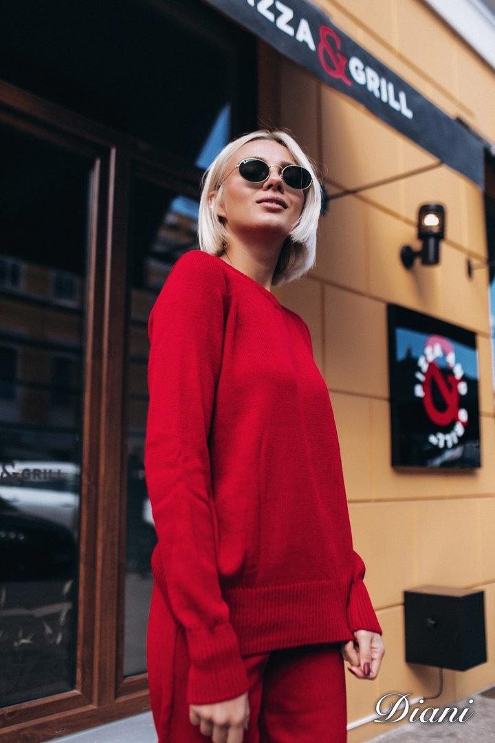 97a3d5d16ea5 Купить базовый красный шерстяной костюм недорого Украина