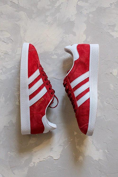 Бордовые замшевые кроссовки Adidas Gazelle bordo фото