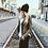 Черная женская шапка в стиле унисекс