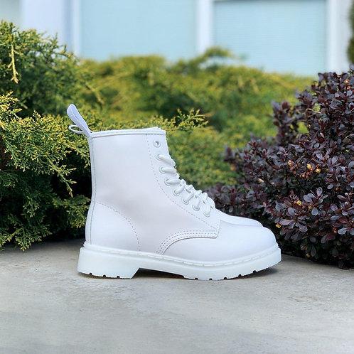 Белые кожаные ботинки Dr. Martens 1460 Mono White фото