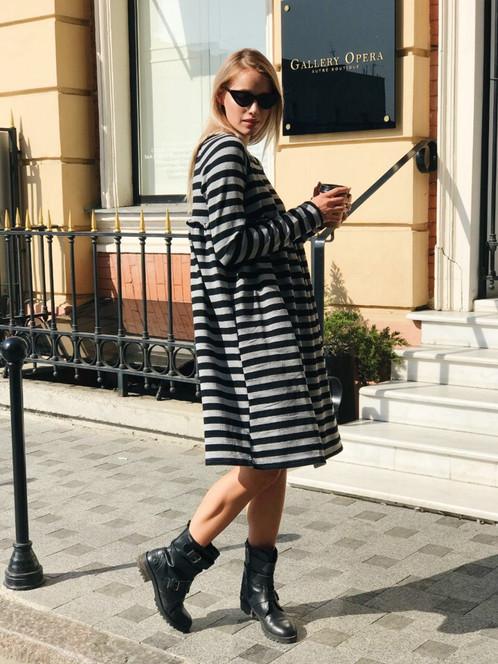 db8b37badad Теплое oversize платье в полоску купить недорого в Украине