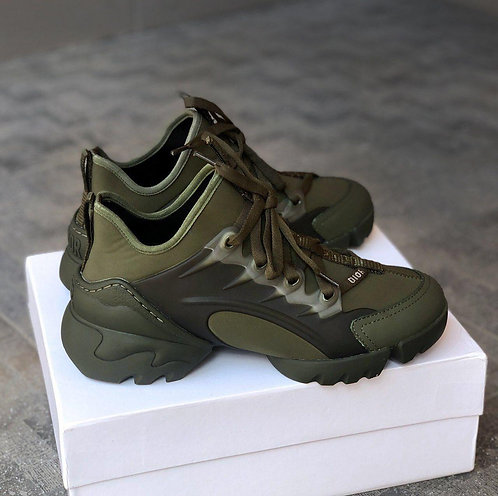 Кроссовки хаки Christian Dior D-connect Sneaker Dark Green фото