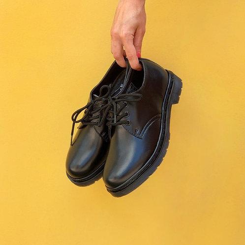 Черные туфли броги Dr. Martens 1461 Mono Black фото