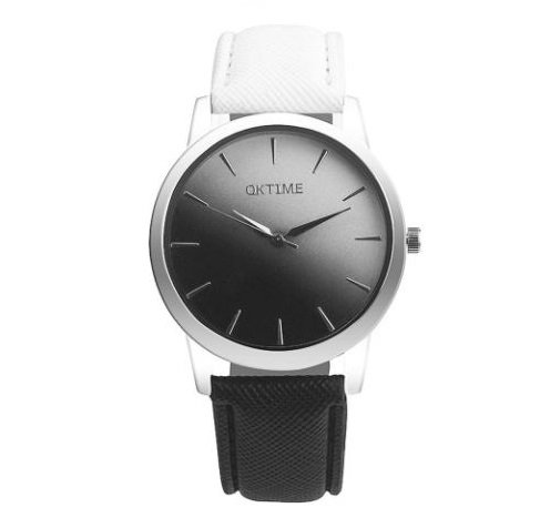 Черно-белые часы с градиентом фото