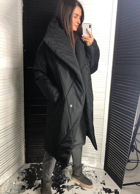 Зимний стеганый пуховик-одеяло на силиконе фото