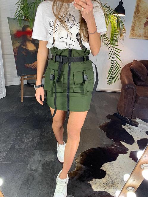 Джинсовая мини юбка с ремнями и пряжками ТМ Dimitra