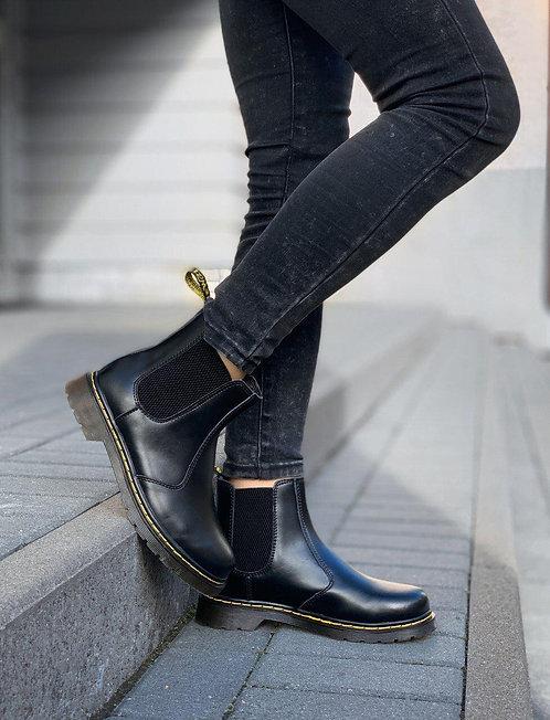 Черные кожаные ботинки челси Dr. Martens Chelsea Black фото