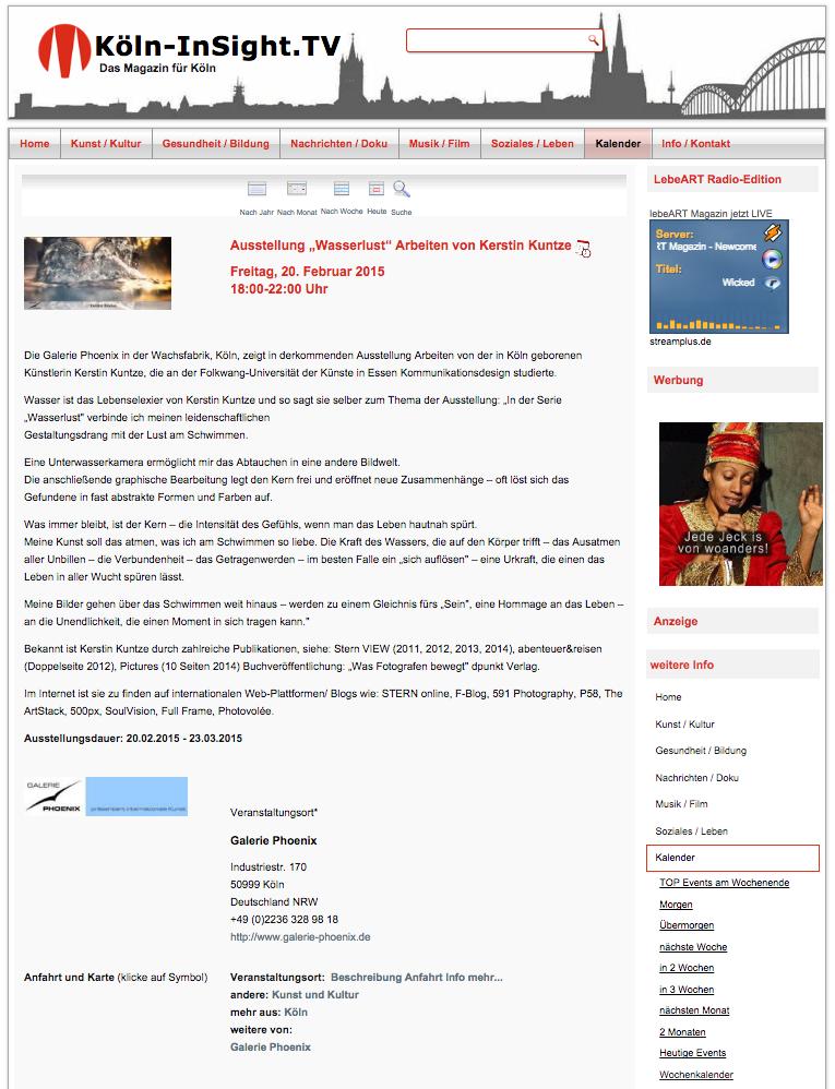Köln-Insight TV - Wasserlust°
