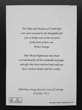 Letter from Princess Kate