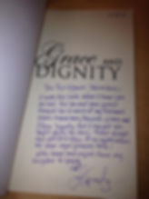 Signed copy of Grace and Dignity to Princess Kate