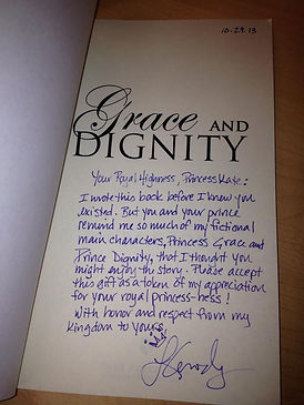 Signed Grace and Dignity book for Princess Kate