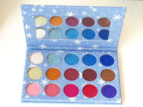 15 Color Sapphire Glitter Pressed Powder Palette