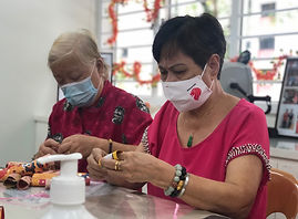 Beneficiaries engaging in Lunar New Year