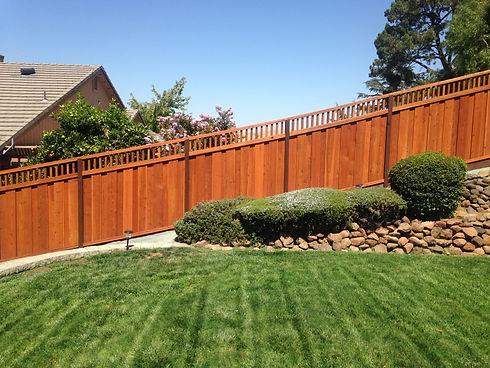 Redwood fence with piano lattice.JPG