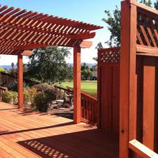 Arbor over a deck
