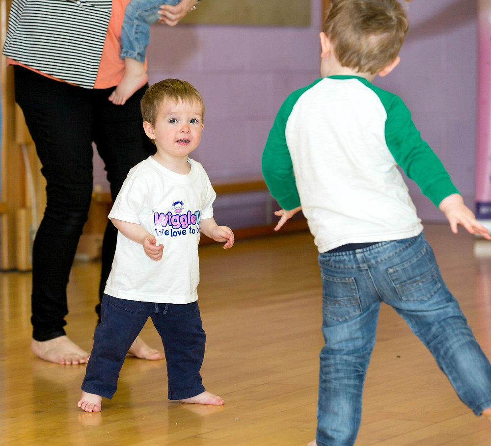 Toddlers learning in our dance class.