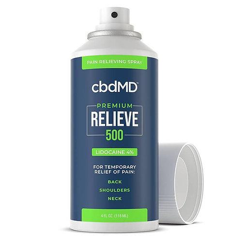 cbdMD - CBD Topical - RELIEVE Lidocaine Spray - 500mg-3000mg