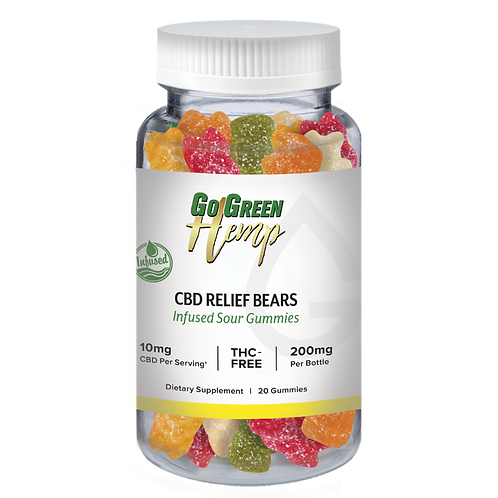 GoGreen Hemp CBD Infused Relief Sour Bears 10mg