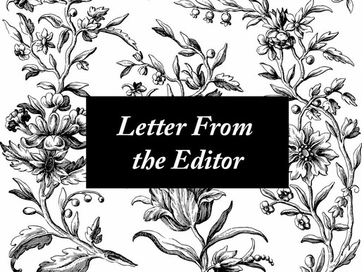 Letter From the Editor, December 2020