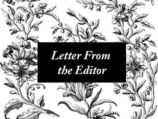 Letter From the Editor, March 2021