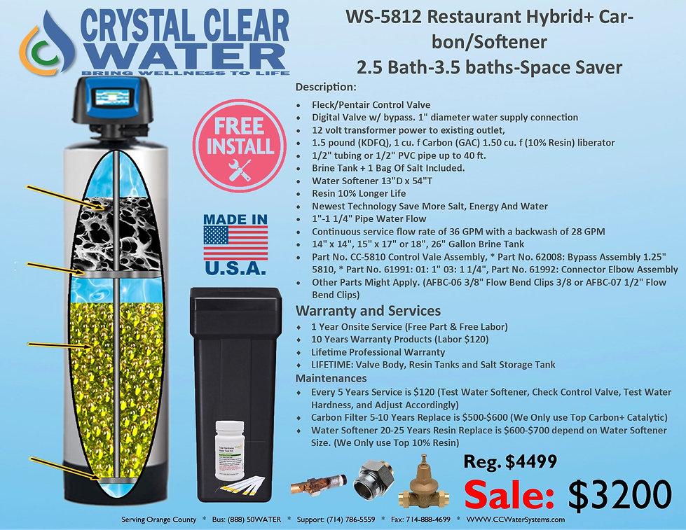 WS-5812 Restaurant Hybrid+ Harbon Soften