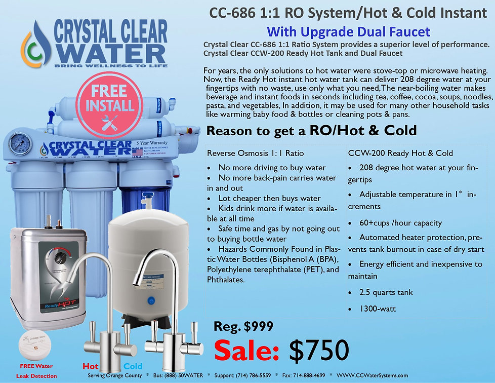 CC-686 1to1 RO System and Hot & Cold Ins