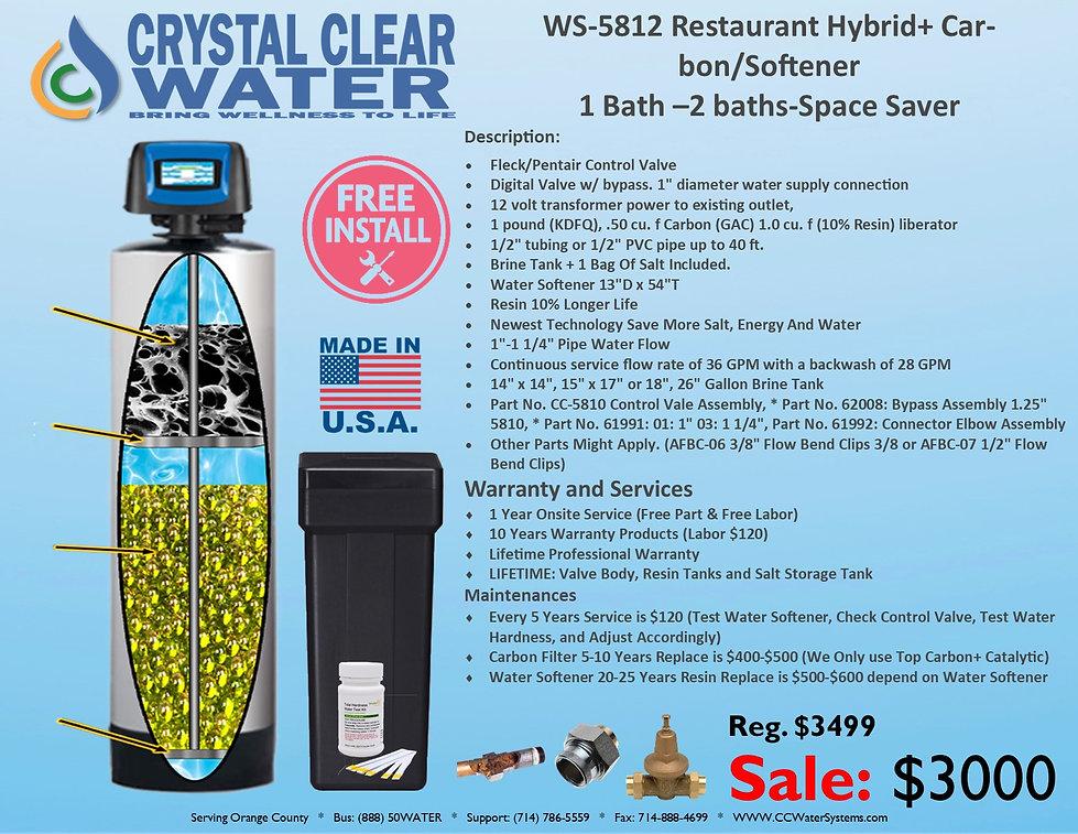 WS-5812 Restaurant Hybrid+Carbon Softene