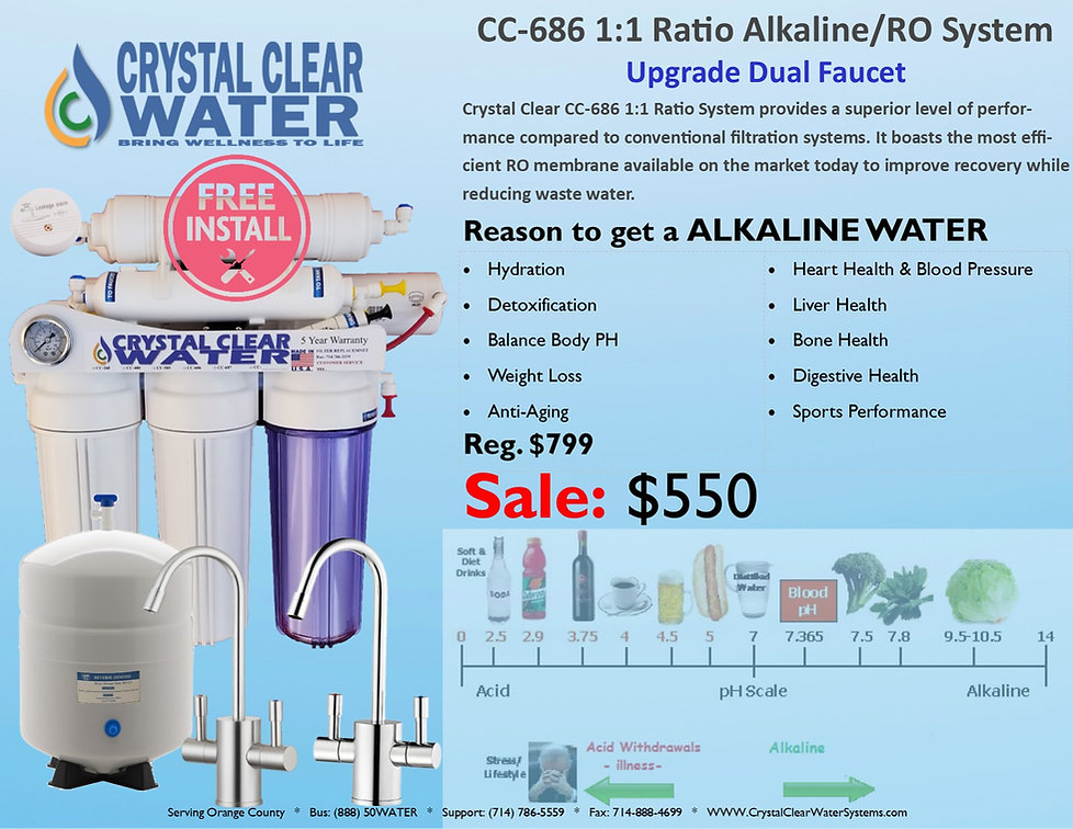 CC-686 1to1 Alkaline Water Home Drinking