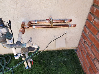 Main shut-off valve water outside garage