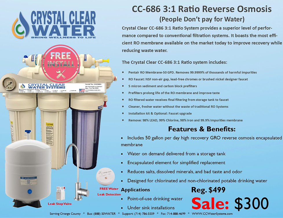 CC-686 3to1 Plus Ratio System Faucet $30