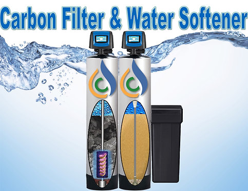 Carbon Filter & Water Softener 1.5  Home Less than 2,000 sf. Up to 3.5 baths