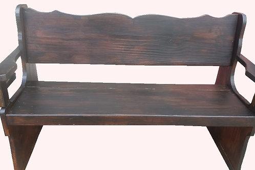 Banco de madeira com encosto