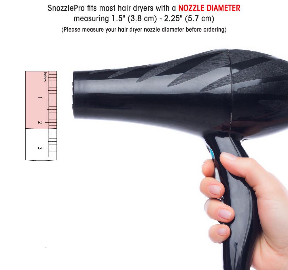 Measure your hair dryer nozzle diameter
