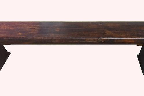Banco de madeira sem encosto