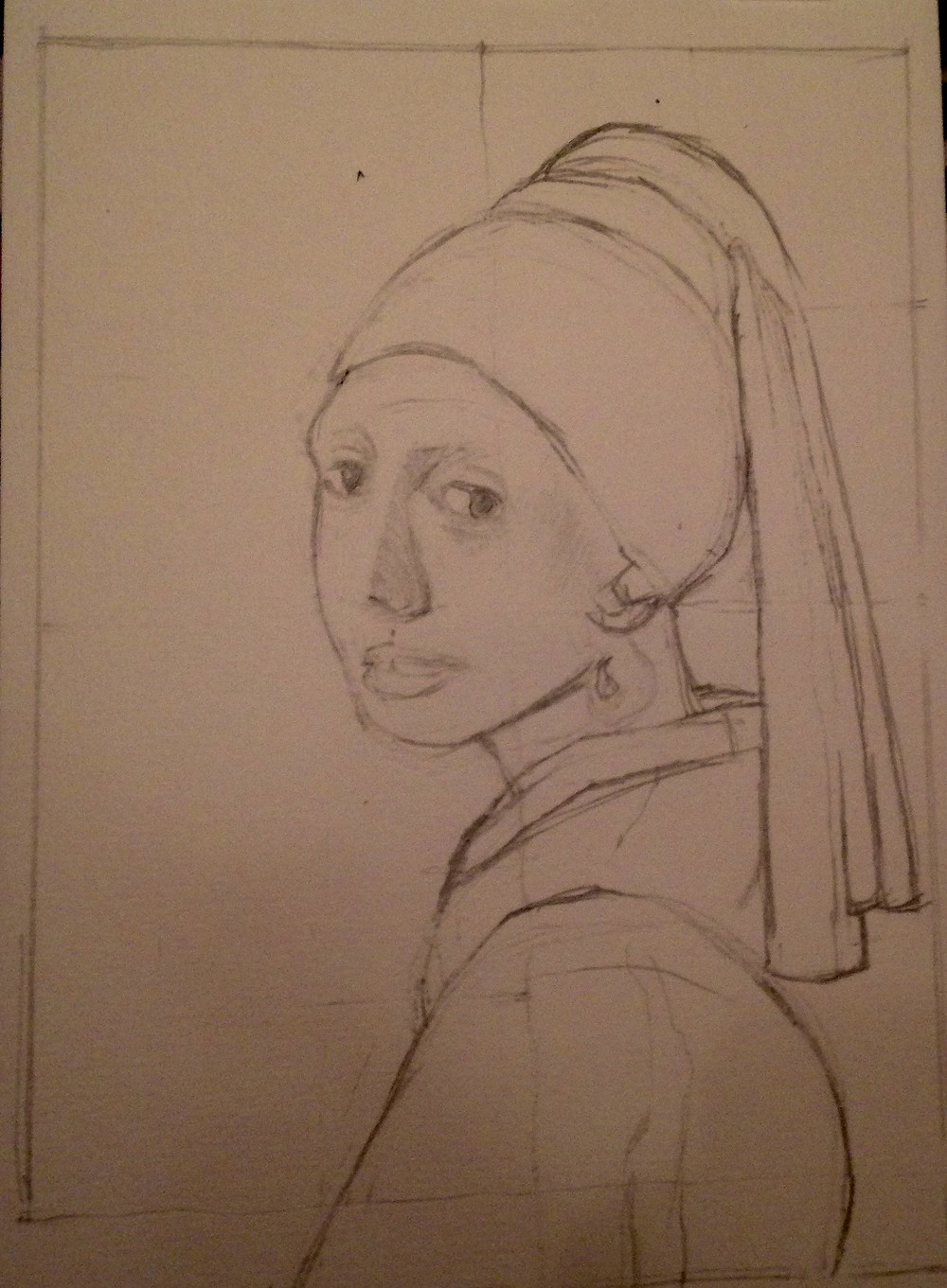 Study of Girl With a Peralr Earring by M. LaFalce